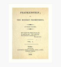 Frankenstein Title Page Kunstdruck