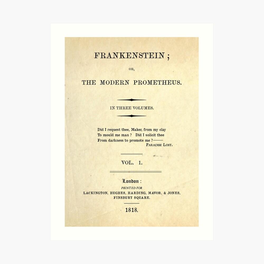 Frankenstein Title Page Art Print