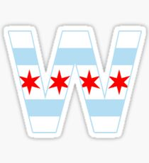 Fly the W - Chicago Win Flag Sticker