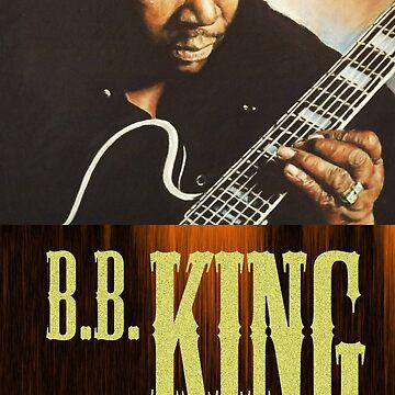 BB King pastel portrait by Kozmikmunki