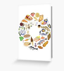 The Food Year Greeting Card