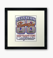 Delorean 88 Trailblazers | Back To The Future Framed Print