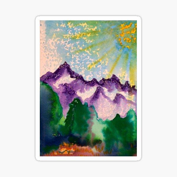 Purple Mountain Majesty  Sticker