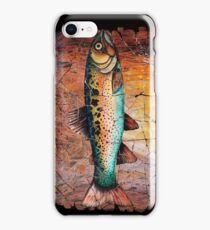 Vintage Red Trout Fresco iPhone Case/Skin