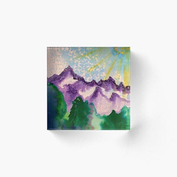 Purple Mountain Majesty  Acrylic Block
