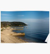 Beautiful coastline with mountains and rocks in Greece Poster