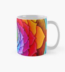 Healing Lotus Rainbow Yin Yang Psychedelic Mandala Mug