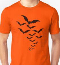 Graphic Design Flock of Bats Halloween T-Shirt
