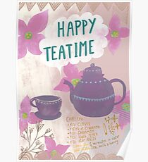 Happy teatime for tea lovers  Poster