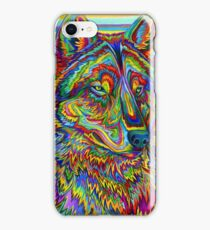 Colorful Psychedelic Rainbow Wolf iPhone Case/Skin
