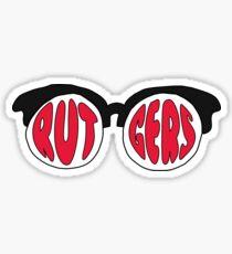 Rutgers Sunglasses Sticker