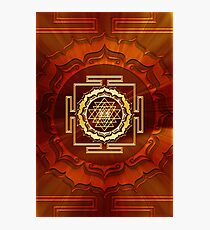 Shri Yantra, Cosmic Energy Conductor, Lotus Flower, Buddhism Photographic Print