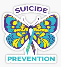 Suicide Prevention Awareness Butterfly Ribbon Sticker