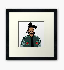 Weeknd Roses Framed Print