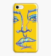 One Liner Girl iPhone Case/Skin