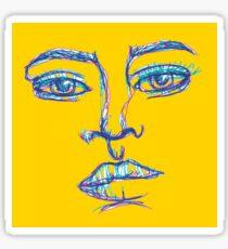 One Liner Girl Sticker