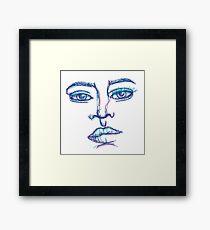 One Liner Girl Framed Print
