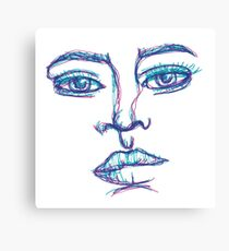 One Liner Girl Canvas Print