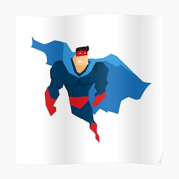 Superhero in Action. Poster