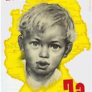 Save The Peace - Say Yes! - East German Unification Poster 1951 by Remo Kurka