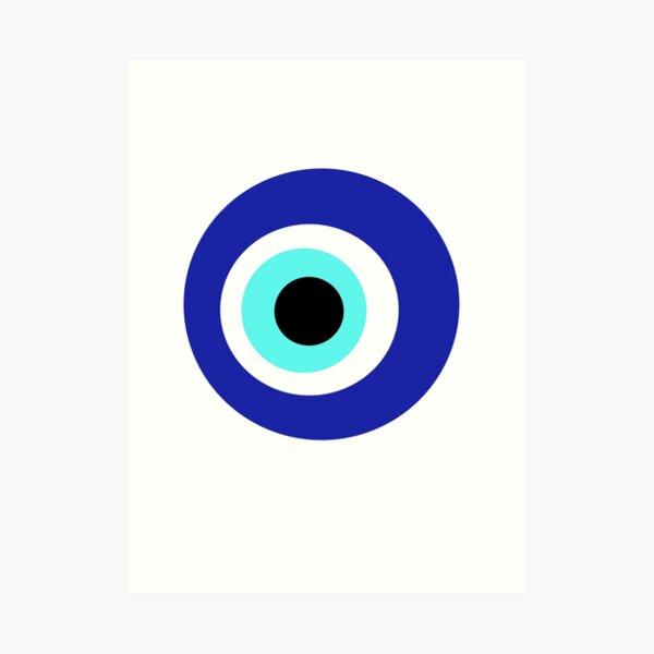 Ojo azul Lámina artística