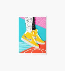 Kid You Not - memphis retro shoes fashion throwback 80s style trends minimalist art neon  Art Board