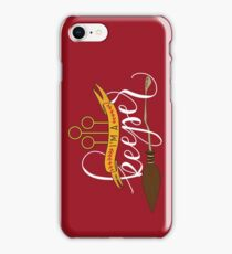 White 'I'm A Keeper' Pun - Red iPhone Case/Skin