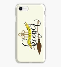 Black 'I'm A Keeper' Pun - Yellow iPhone Case/Skin