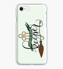Black 'I'm A Keeper' Pun - Green iPhone Case/Skin