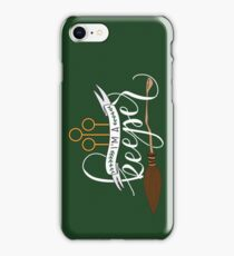 White 'I'm A Keeper' Pun - Green iPhone Case/Skin
