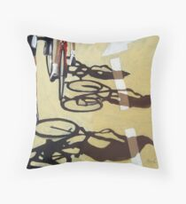 Cycling Race 2 - Tour de France inspired art Throw Pillow
