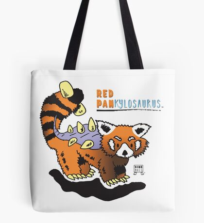 Red Pankylosaurus Tote Bag