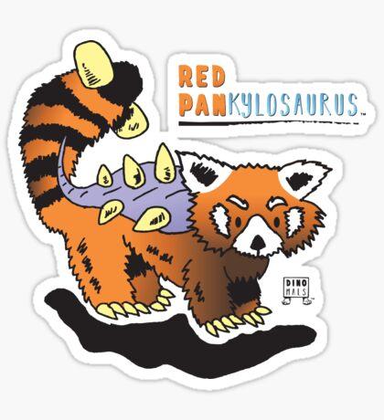 Red Pankylosaurus Sticker