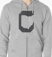 Cleveland Ohio Negative Zipped Hoodie