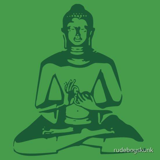 TShirtGifter presents: Buddha (Green Print)