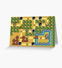 Super Mario Bros. 3 - Grass World Greeting Card