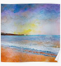 Fistral Beach Sunset Poster