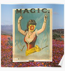 Faceless Magic Half Lady Illusion Poster