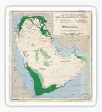 Arab states (excluding Egypt), tribes and administrative divisions (1947) Sticker