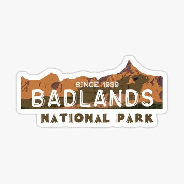 Badlands National Park Travel South Dakota State Park United States Sticker