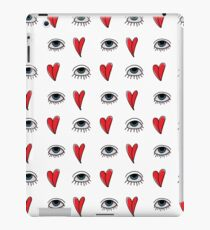 heart-eye pattern iPad Case/Skin