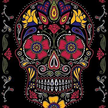 Tag der Toten Sugar Skull Dark von dinafiala