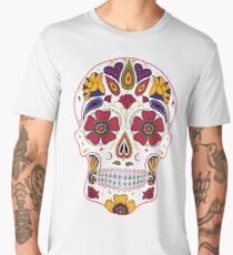 Day of the Dead Sugar Skull Dark Men's Premium T-Shirt