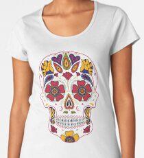 Day of the Dead Sugar Skull Dark Women's Premium T-Shirt