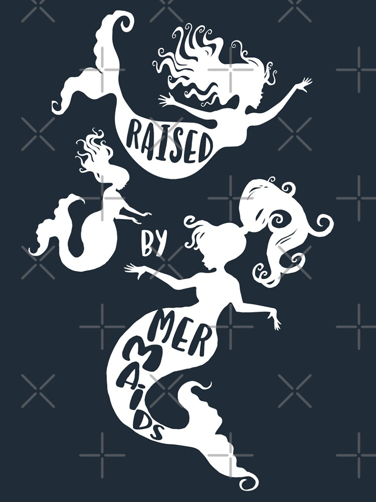 Raised By Mermaids - White Silhouette by jitterfly