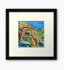 TRICKSTER ABSTRACT Framed Print