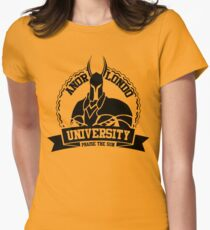 Anor Londo University Fitted T-Shirt