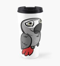 African Grey Congo Peepo Travel Mug