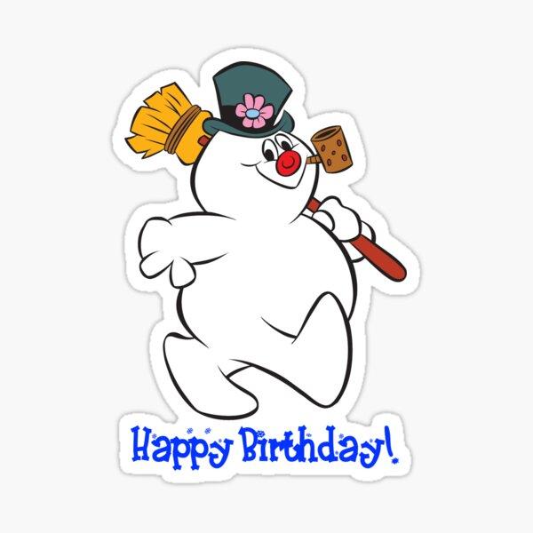 Frosty: Happy Birthday! Sticker