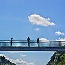 Three Girls on a Bridge... Vannes, Brittany, France by Buckwhite